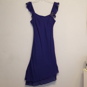 Donna Ricco NY colbalt blue cocktail dress size 6